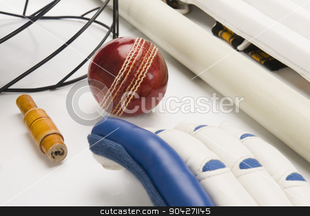 pims_20100108_as0206.JPG stock photo, Close-up of cricket equipment by imagedb
