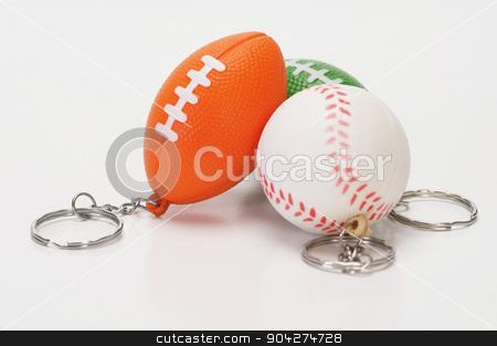 pims_20100126_as0375.jpg stock photo, Close-up of assorted balls shaped key rings by imagedb