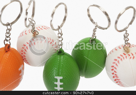 pims_20100126_as0401.jpg stock photo, Close-up of assorted balls shaped key rings by imagedb