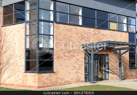 Empty modern office building stock photo, Empty modern office building available for rent, Scarborough, England. by Martin Crowdy