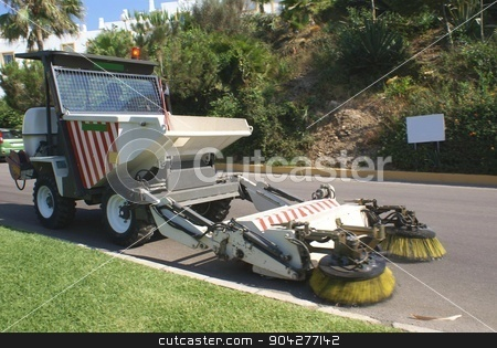 road sweeper stock photo, street cleaner by Saphire Ovadia