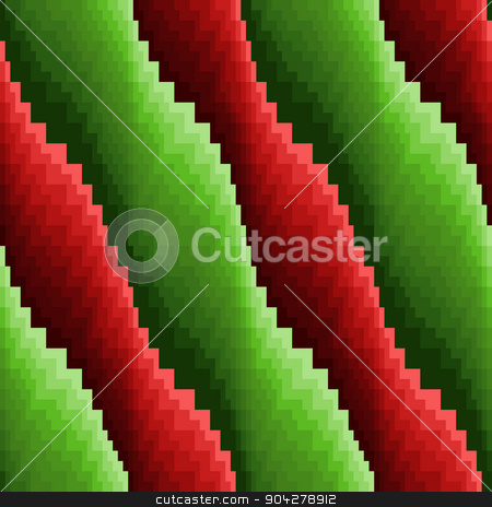 Abstract seamless wavy red and green stripes stock vector clipart, Abstract wavy stripes in red and green hues, seamless vector pattern by Nataliia
