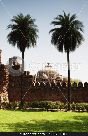 pims_20050427_xbs0250.jpg stock photo, Ruin of a fort, Old Fort, Delhi, India by imagedb