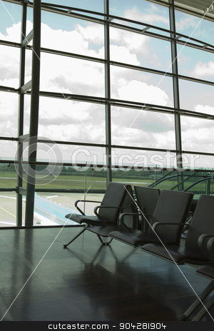 pims_20100608_ml0829.jpg stock photo, Chairs in an airport lounge, Cork Airport, Cork, County Cork, Republic of Ireland by imagedb
