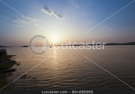Lake at sunset, Bhojtal, Bhopal, Madhya Pradesh, India stock photo, Lake at sunset, Bhojtal, Bhopal, Madhya Pradesh, India by imagedb