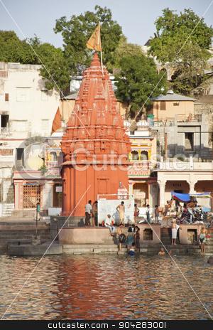 Temple at Shipra Ghat, Shipra River, Ujjain, Madhya Pradesh, Ind stock photo, Temple at Shipra Ghat, Shipra River, Ujjain, Madhya Pradesh, India by imagedb
