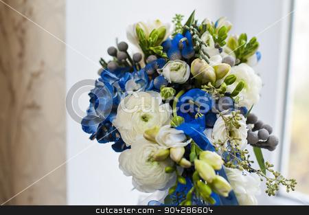 bride with a wedding bouquet  stock photo, bride with a wedding bouquet. by timonko