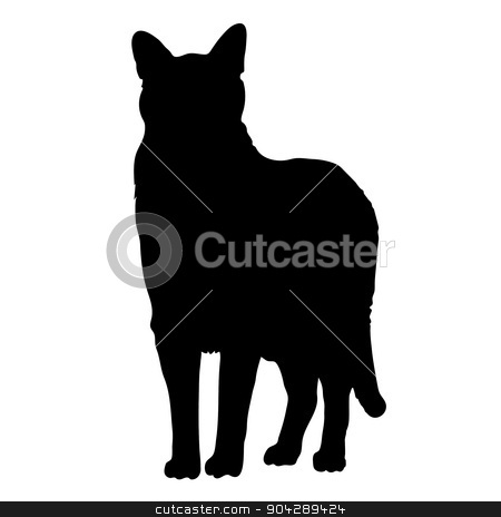 Print stock vector clipart, A black silhouette of a cat by Maria Bell
