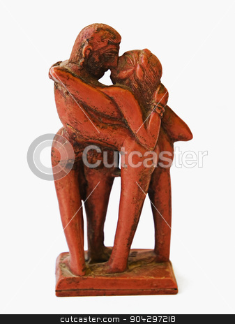 Sculpture of romantic couple stock photo, Sculpture of romantic couple by imagedb