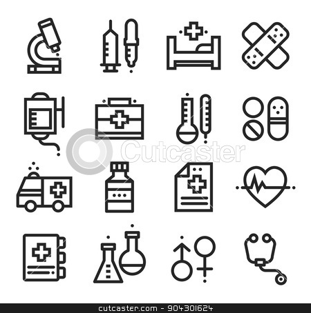 Science and Medical icons, stock vector stock vector clipart, Science and Medical icons, stock vector line by Evgenii Naumov