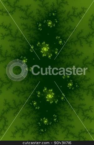 Green Fractal stock photo, Fractal background image with green colors. by Henrik Lehnerer