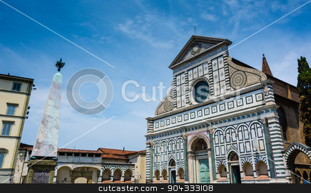 Santa Maria Novella  stock photo, view of one of the most famous church in Florence by rarrarorro