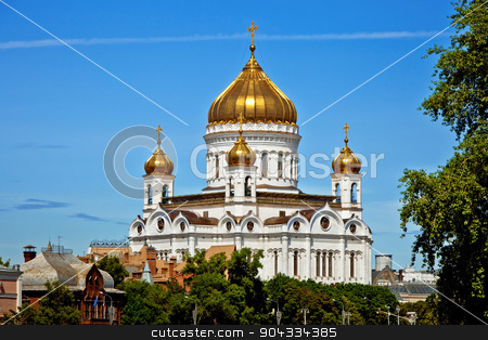 Cathedral of Christ the Savior in Moscow stock photo, Cathedral of Christ the Savior in Moscow, Russia.  by Alexander