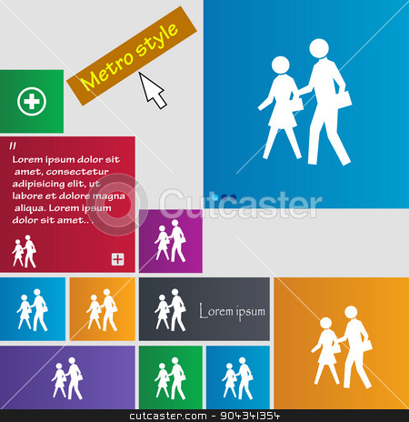 crosswalk icon sign. buttons. Modern interface website buttons with cursor pointer. Vector stock vector clipart, crosswalk icon sign. buttons. Modern interface website buttons with cursor pointer. Vector illustration by Serhii