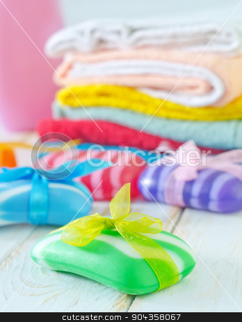 color soap stock photo, color soap by tycoon