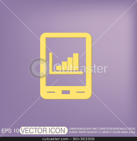 tablet pad with diagram. stock vector clipart, tablet pad with diagram. by LittleCuckoo