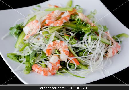 fresh shrimp salad recipes stock photo, fresh shrimp salad recipes - vietnamese style salad by Linh Tran