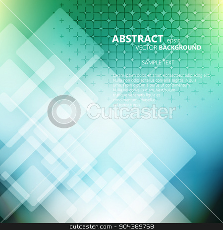 Abstract Square Background stock vector clipart, Abstract technology transparent Squares Background by T-flex