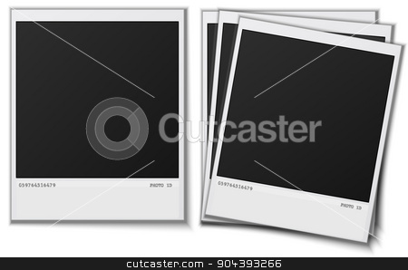 Set Polaroid photo frames on white background.Vector. stock vector clipart, Set Polaroid photo frames on white background.Vector. vector illustration image by T-flex