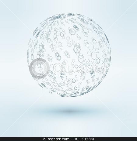 3D vector illustration of sphere stock vector clipart, 3D vector illustration of sphere  eps 10 vector illustration by T-flex