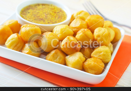potato balls stock photo, potato balls by tycoon