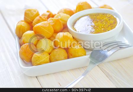 potato balls stock photo, potato balls by tycoon