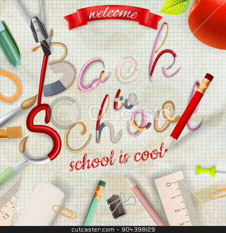 Back to school background. EPS 1 stock vector clipart, Back to school background. EPS 10 vector file included by Vladimir Petrov