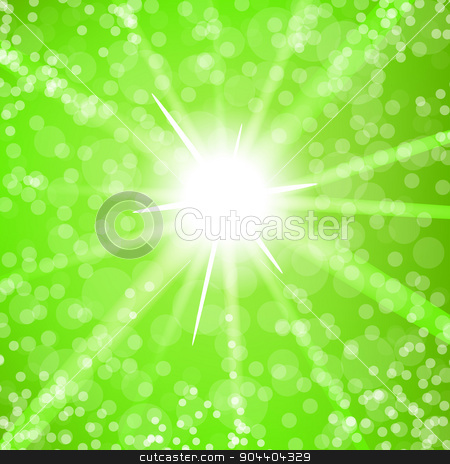 Summer  Sun Light stock vector clipart, Summer Yellow Sun Light on Blurred Background by valeo5
