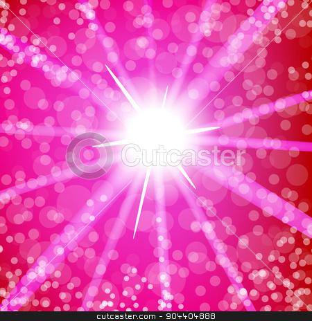 Summer Hot  Sun Light  stock vector clipart, Summer Hot  Sun Light on Pink Blurred Background by valeo5