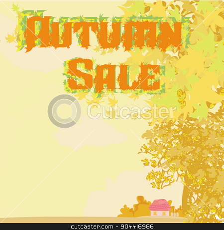 autumn shopping - sale stock vector clipart, autumn shopping - sale by Jacky Brown