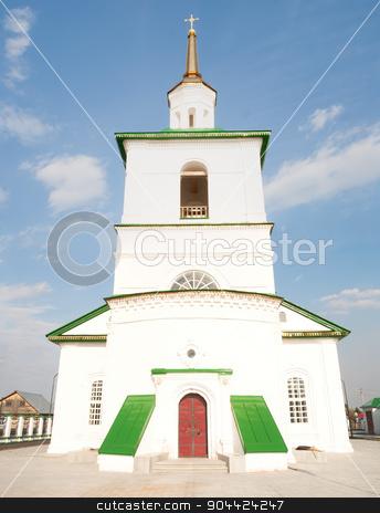 Old church in Preobrazhenka. Russia stock photo, Preobrazhenka, Russia - May 2, 2010: Saviour Preobrazheniya's Church. Tobolsk district by Aikon