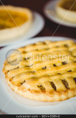 Close up view of pie stock photo, Close up view of pie at coffee shop by Wavebreak Media