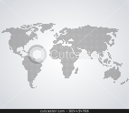 World Map stock vector clipart, Vector illustration of a world map in the background by Miroslava Hlavacova