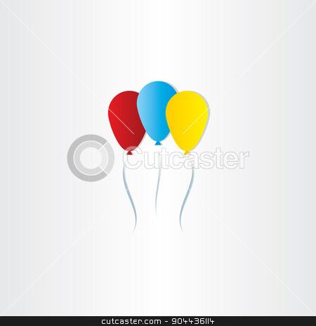 Color Balloons Celebration Symbol Stock Vector