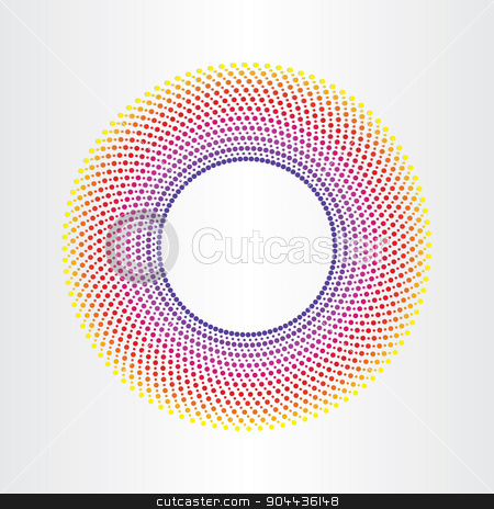colorful abstract background with circles stock vector clipart, colorful abstract background with circle halftones by blaskorizov