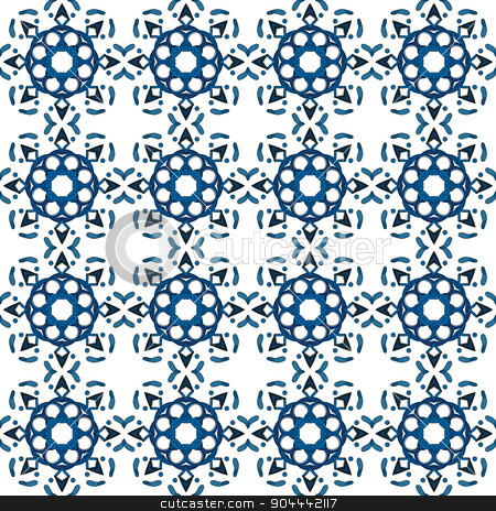 Portuguese tiles stock vector clipart, Seamless pattern illustration in traditional style - like Portuguese tiles  by nahhan