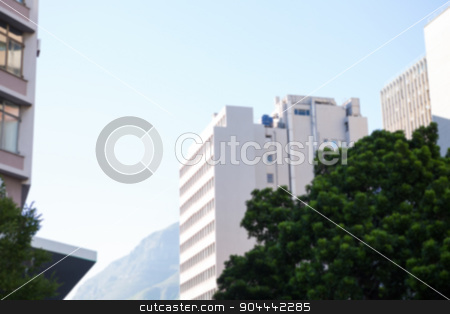 Large buildings against sunny sky stock photo, Large buildings against sunny sky in the city by Wavebreak Media