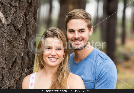 Portrait of a young happy hiker couple stock photo, Portrait of a young happy hiker couple in the nature by Wavebreak Media