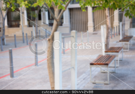 Benches and trees stock photo, Benches and trees in the city by Wavebreak Media