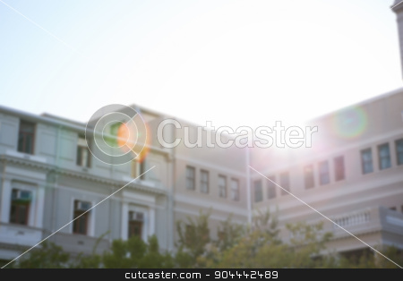 Large building against sunny sky stock photo, Large building against sunny sky in the city by Wavebreak Media