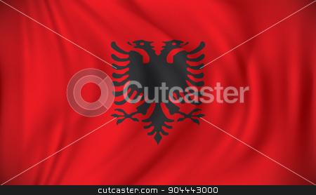 Flag of Albania stock vector clipart, Flag of Albania - vector illustration by ojal_2