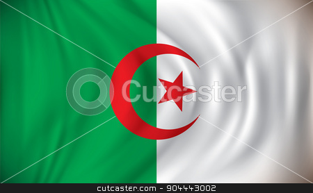 Flag of Algeria stock vector clipart, Flag of Algeria - vector illustration by ojal_2