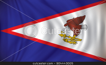 Flag of American Samoa stock vector clipart, Flag of American Samoa - vector illustration by ojal_2