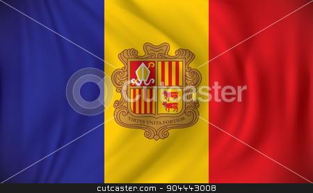 Flag of Andorra stock vector clipart, Flag of Andorra - vector illustration by ojal_2