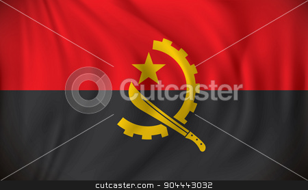Flag of Angola stock vector clipart, Flag of Angola - vector illustration by ojal_2
