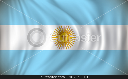 Flag of Argentina stock vector clipart, Flag of Argentina - vector illustration by ojal_2