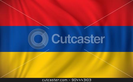 Flag of Armenia stock vector clipart, Flag of Armenia - vector illustration by ojal_2