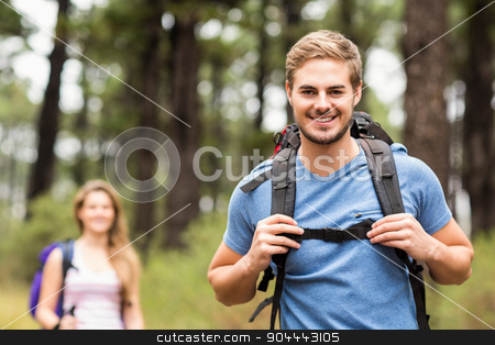 Portrait of a handsome hiker  stock photo, Portrait of a handsome hiker  by Wavebreak Media
