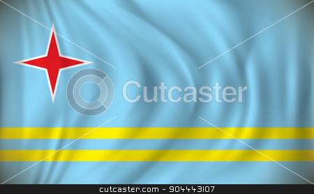 Flag of Aruba stock vector clipart, Flag of Aruba - vector illustration by ojal_2