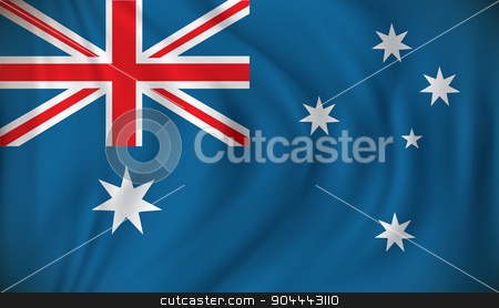 Flag of Australia stock vector clipart, Flag of Australia - vector illustration by ojal_2